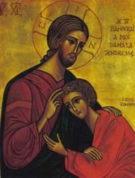 αγιος Ιωάννης Θεολογος προσπίπτοντας στον ΧΡΙΣΤΟ